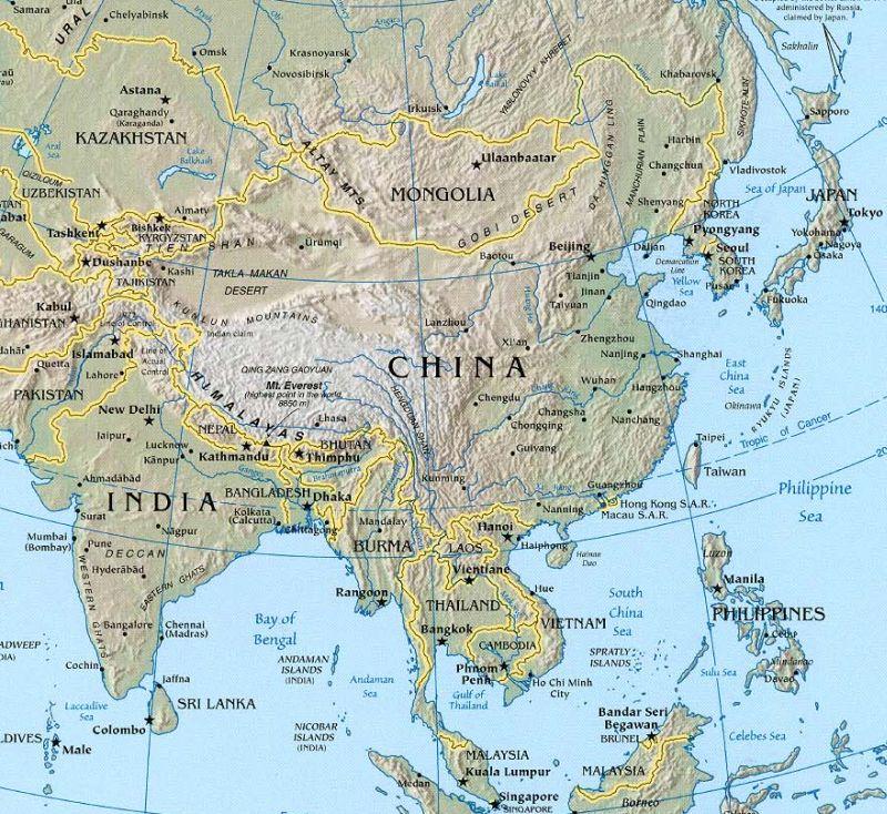 Landkarten Von China